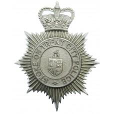 Stoke-on-Trent City Police Helmet Plate - Queen's Crown