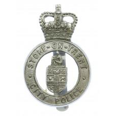 Stoke-on-Trent City Police Cap Badge - Queen's Crown