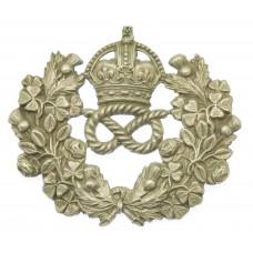 Staffordshire Constabulary Wreath Shako/Cap Badge - King's Crown
