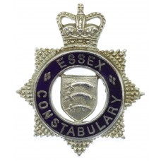Essex Constabulary Senior Officer's Enamelled Cap Badge - Queen's Crown