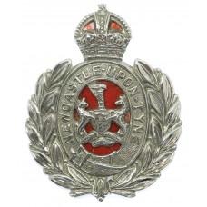 Newcastle-upon-Tyne City Police Wreath Cap Badge - King's Crown