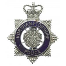 Northamptonshire Police Enamelled Cap Badge - Queen's Crown
