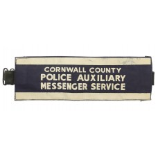 Cornwall County Police Auxiliary Messenger Service Armband