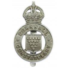 Cornwall Constabulary Cap Badge - King's Crown