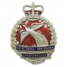 Royal Papua New Guinea Constabulary Enamelled Cap Badge - Queen's Crown