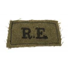Royal Engineers (R.E.) WW2 Cloth Slip On Shoulder Title
