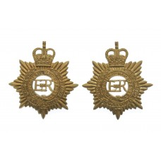 Pair of Royal Army Service Corps (R.A.S.C.) Brass Collar Badges -