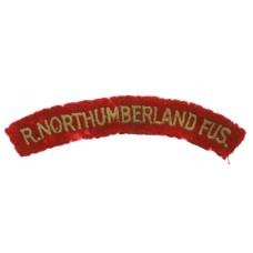 Royal Northumberland Fusiliers (R.NORTHUMBERLAND FUS.) Cloth Shou