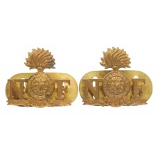 Pair of Royal Northumberland Fusiliers Shoulder Titles