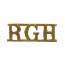 Royal Gloucestershire Hussars (R.G.H.) Shoulder Title