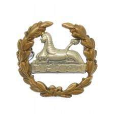 Victorian Gloucestershire Regiment Large Bi-metal Back Cap Badge