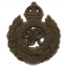 Royal Engineers WW2 Plastic Economy Cap Badge