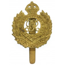 WW2 Royal Engineers 1943 Dated Theatre Made Cast Cap Badge
