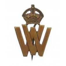 WW1 Volunteer Workers (V.W.) Lapel Badge