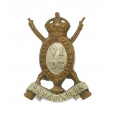 6th Dragoon Guards (Carabiniers) Collar Badge - King's Crown