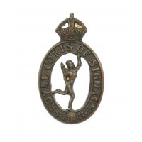 Royal Corps of Signals Officer's Service Dress Collar Badge - King's Crown