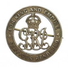 WW1 Silver War Badge (No. 9268) - Dvr. H. Adams, Royal Field Arti