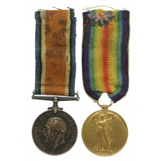 WW1 British War & Victory Medal Pair - Cpl. W. Laurence, King