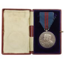Delhi Durbar Medal 1911 in Box - Bdr. C.H. Berry, 77th Bty. R.F.A