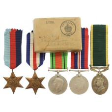 WW2 Territorial Efficiency Medal Group of Five - Bdr. H.W. Ross,