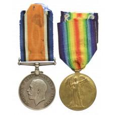 WW1 British War & Victory Medal Pair - Pte. T. Batten, Oxfordshire & Buckinghamshire Light Infantry