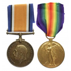 WW1 British War & Victory Medal Pair - Pte. G. Skinner, Linco