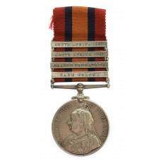Queen's South Africa Medal (4 Clasps - Cape Colony, Orange Free State, South Africa 1901, South Africa 1902) - Tpr. A. Earlam, 21st Coy. (Cheshire) Imperial Yeomanry