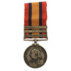Queen's South Africa Medal (3 Clasps - Cape Colony, Orange Free State, Transvaal) - Pte. F. Tindall, 2nd Bn. Lincolnshire Regiment