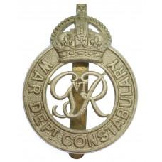 George VI War Department Constabulary Cap Badge