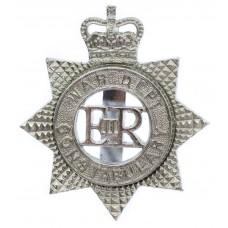 War Department Constabulary Star Cap Badge - Queen's Crown