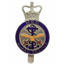 Ministry of Defence (M.O.D.) Guard Service Enamelled Cap Badge - Queen's Crown