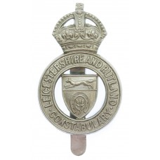 Scarce Leicestershire and Rutland Constabulary Cap Badge - King's Crown