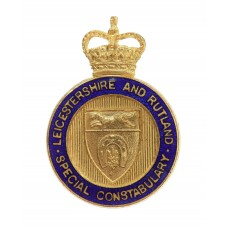 Leicestershire and Rutland Special Constabulary Enamelled Lapel Badge - Queen's Crown