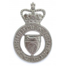 Leicestershire and Rutland Constabulary Cap Badge - Queen's Crown