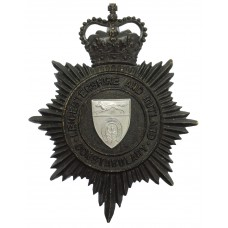 Leicestershire and Rutland Constabulary Night Helmet Plate - Quee