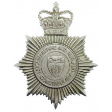 Leicestershire and Rutland Constabulary Helmet Plate - Queen's Cr