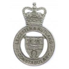 Leicester & Rutland Constabulary Cap Badge - Queen's Crown