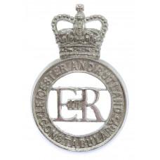 Leicester and Rutland Constabulary Cap Badge - Queen's Crown