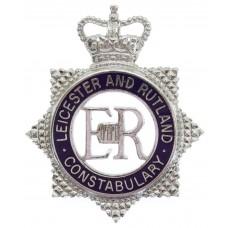 Leicester and Rutland Constabulary Senior Officer's Enamelled Cap