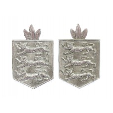 Pair of Guernsey Police Collar Badges