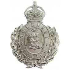 Guernsey Police Wreath Helmet Plate - King's Crown