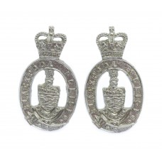 Pair of Blackpool Police Collar Badges - Queen's Crown