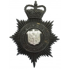 East Riding of Yorkshire Constabulary Night Helmet Plate - Queen'