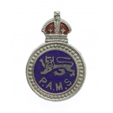Surrey Constabulary Police Auxiliary Messenger Service (P.A.M.S.) Enamelled Lapel Badge - King's Crown