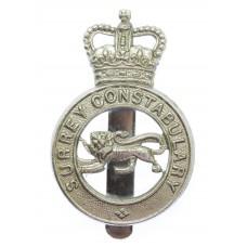 Surrey Constabulary Cap Badge - Queen's Crown