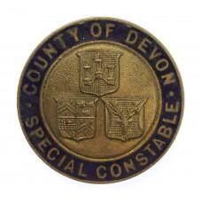 County of Devon Special Constable Enamelled Lapel Badge