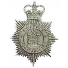 Suffolk Constabulary Helmet Plate - Queen's Crown