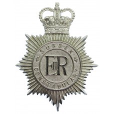 Sussex Constabulary Helmet Plate - Queen's Crown