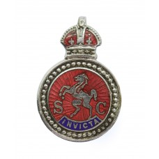 Kent Special Constabulary Enamelled Lapel Badge - King's Crown