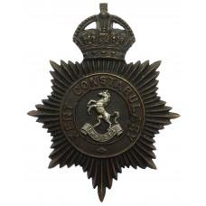 Kent Constabulary Night Helmet Plate - King's Crown